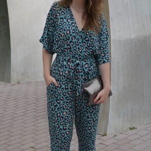 H&M Pants - H&M cheetah print jumpsuit